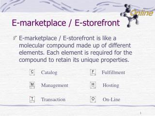 E-marketplace / E-storefront