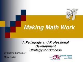 Making Math Work