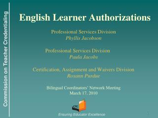 English Learner Authorizations