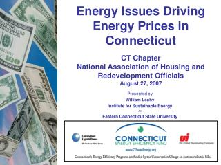 Presented by William Leahy Institute for Sustainable Energy At