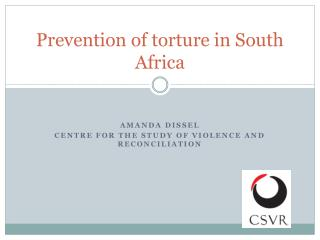 Prevention of torture in South Africa