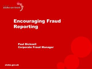 Encouraging Fraud Reporting