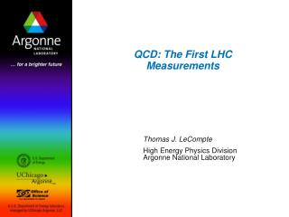 QCD: The First LHC Measurements