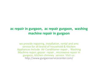 washing machine repair in gurgaon