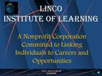 LINCO  Institute of Learning