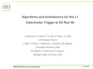 Algorithms and Architecture for the L1 Calorimeter Trigger at D0 Run IIb
