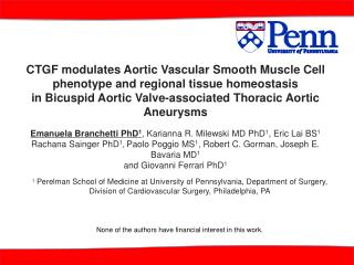 CTGF modulates Aortic Vascular Smooth Muscle Cell phenotype and regional tissue homeostasis