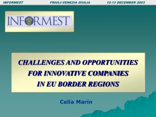 CHALLENGES AND OPPORTUNITIES  FOR INNOVATIVE COMPANIES  IN EU BORDER REGIONS