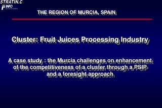 Cluster: Fruit Juices Processing Industry