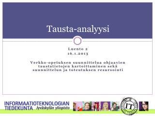 Tausta-analyysi