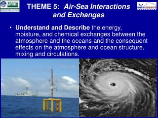 THEME 5:   Air-Sea Interactions and Exchanges