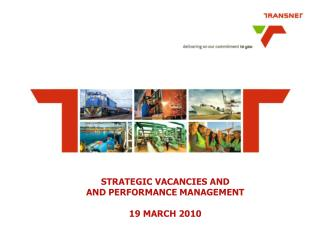 STRATEGIC VACANCIES AND  AND PERFORMANCE MANAGEMENT  19 MARCH 2010