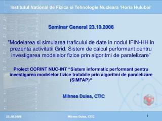 Seminar General 23.10.2006