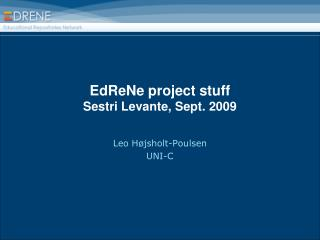 EdReNe project stuff Sestri Levante, Sept. 2009