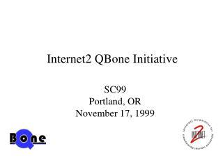Internet2 QBone Initiative
