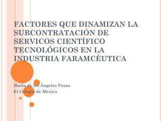 María de los Ángeles Pozas El Colegio de México