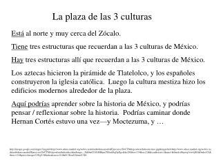 La plaza de las 3 culturas