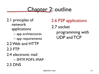 Transport Protocols and Distributed Applications