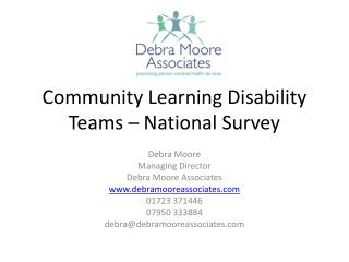 Community Learning Disability Teams – National Survey