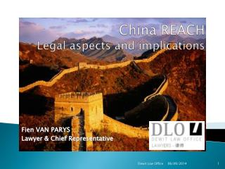 China REACH Legal aspects and implications