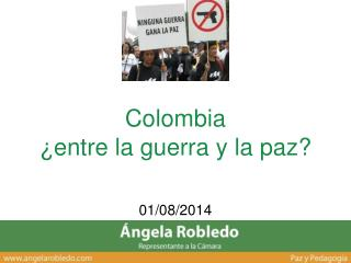 Colombia   ¿entre la guerra y la paz?