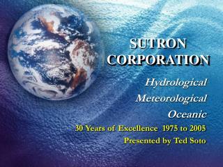 SUTRON  CORPORATION