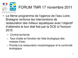 FORUM TMR 17 novembre 2011