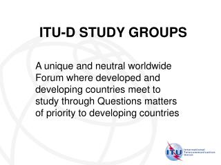 ITU-D STUDY GROUPS