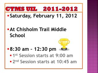 CTMS UIL    2011-2012