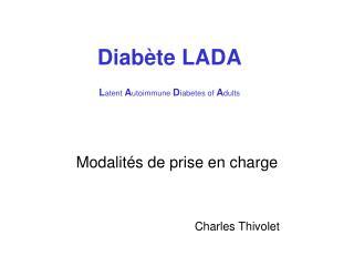 Diab te LADA  Latent Autoimmune Diabetes of Adults