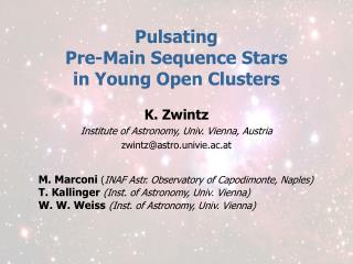 Pulsating  Pre-Main Sequence Stars  in Young Open Clusters