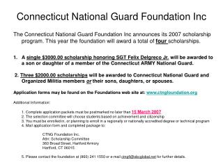 Connecticut National Guard Foundation Inc