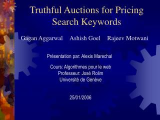 Truthful Auctions for Pricing Search Keywords