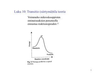 Luku 10: Transitio (siirtymä)tila teoria