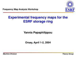 Experimental frequency maps for the ESRF storage ring