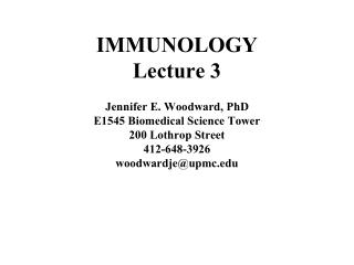 IMMUNOLOGY Lecture 3