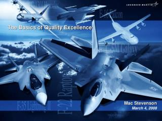 The Basics of Quality Excellence