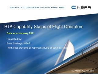 RTA Capability Status of Flight Operators