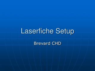 Laserfiche Setup