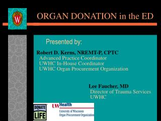 ORGAN DONATION in the ED