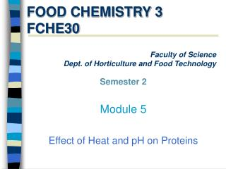 FOOD CHEMISTRY 3 FCHE30