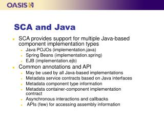 SCA and Java