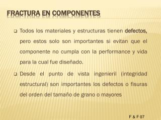 Fractura en componentes