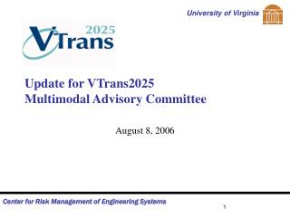 Update for VTrans2025 Multimodal Advisory Committee