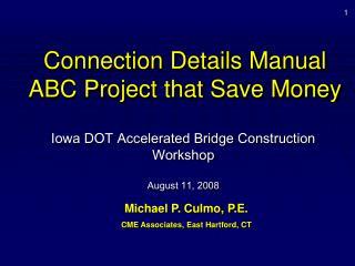 Connection Details Manual ABC Project that Save Money