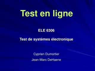 Test en  ligne