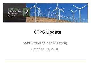 CTPG Update