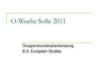 O-Woche SoSe 2011