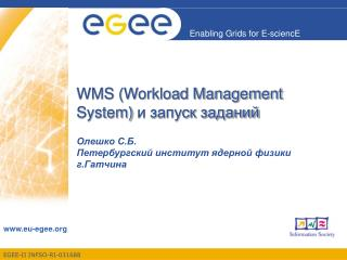 WMS ( Workload Management System)  и запуск заданий