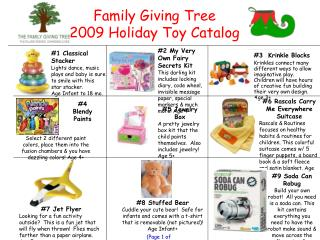 Family Giving Tree 2009 Holiday Toy Catalog